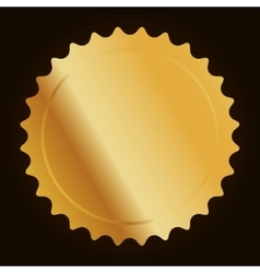 Blank metallic label or seal icon image vector