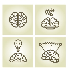 Brain icon - invention and inspiration symbols vector image