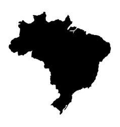 Brasil map silhouette brazil map vector