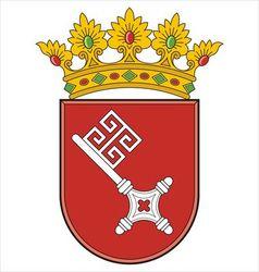 Bremen Coat of Arms vector image