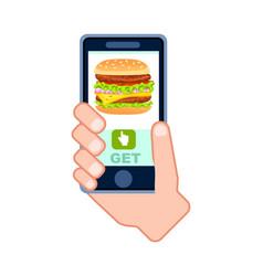 burger menu delivery service icon vector image
