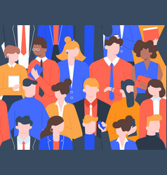 business people crowd pattern office colleague vector image