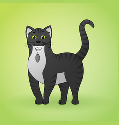 cartoon images of cute different cat vector image