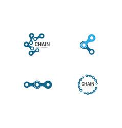 Chain logo design vector