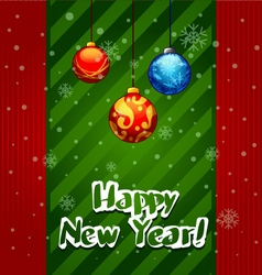 Christmas Greeting Card christmas balls vector image