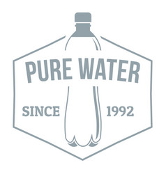 Clean pure water logo simple gray style vector