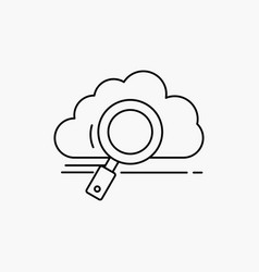 cloud search storage technology computing line vector image