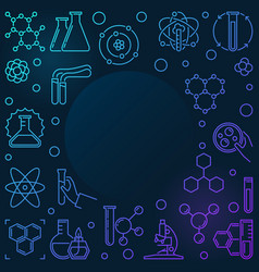 colored chemistry outline with vector image