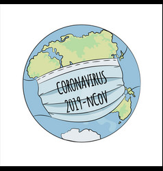 Coronavirus world health earth human epidemic dang vector