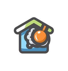 crash home disaster icon cartoon vector image