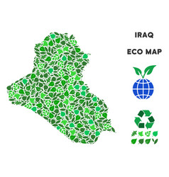 ecology green collage iraq map vector image