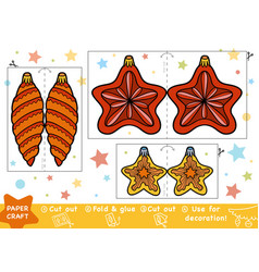Education christmas paper crafts for children vector