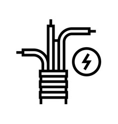 electricity cable line icon vector image