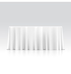 Empty Rectangular Table with Tablecloth vector image