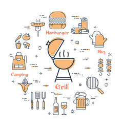 grill concept - grill vector image