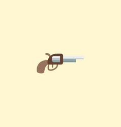 gun icon flat element of gun vector image