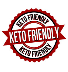 keto friendly label or sticker vector image
