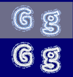 letter g on grey and blue background vector image