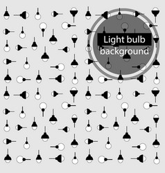 light bulb background vector image