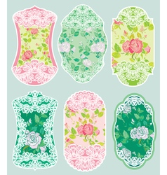 love labels lace 2 380 vector image vector image