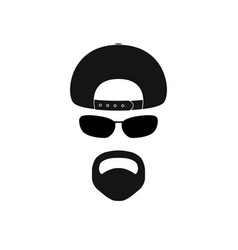 man with baseball cap sunglasses and goatee vector image