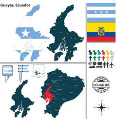 Map of guayas ecuador vector