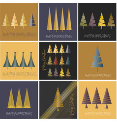 merry and happy christmas luxury greeting card vector image