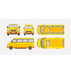 Minibus top front side view vector