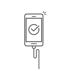 mobile phone connected wire charger vector image