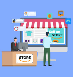 Online store to sell marketplace for trade vector