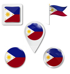 Original and simple republic the philippines vector