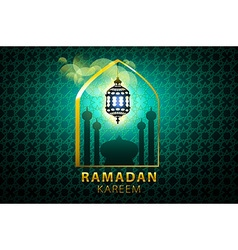 ramadan kareem Islamic design banner background vector image