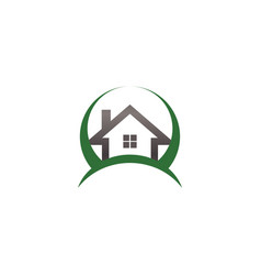 real estate house logo template vector image