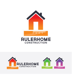ruler home logo vector image
