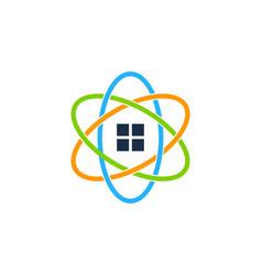 Science real estate logo icon design vector