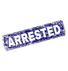 Scratched arrested framed rounded rectangle stamp vector