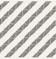 seamless geometric doodle lines pattern in black vector image