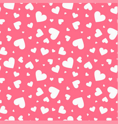 seamless pattern with hearts happy vector image