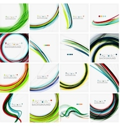 Set of abstract backgrounds Circles swirls and vector image