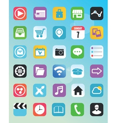 Set of flat icons for design vector