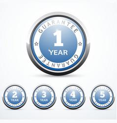set of guarantee badges vector image