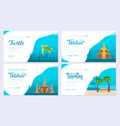 set of thailand country asian traditional vector image