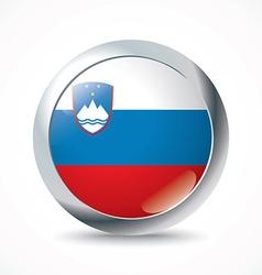 Slovenia flag button vector image