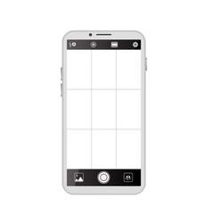 smartphone camera viewfinder vector image