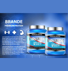 sport nutrition product containers ad weight vector image
