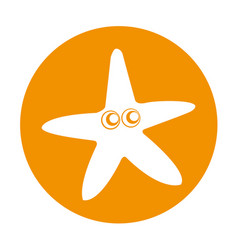 Starfish comic character icon vector