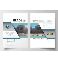 Templates for brochure magazine flyer booklet vector