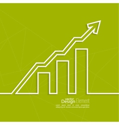 The graph shows the growth and profit vector image