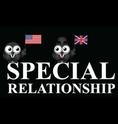USA UK special relationship vector