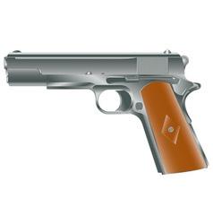 Vintage personal pistol ww2 times vector